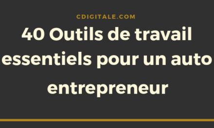 Auto entrepreneur 2020 : la liste complète de ces outils qui améliorent votre productivité