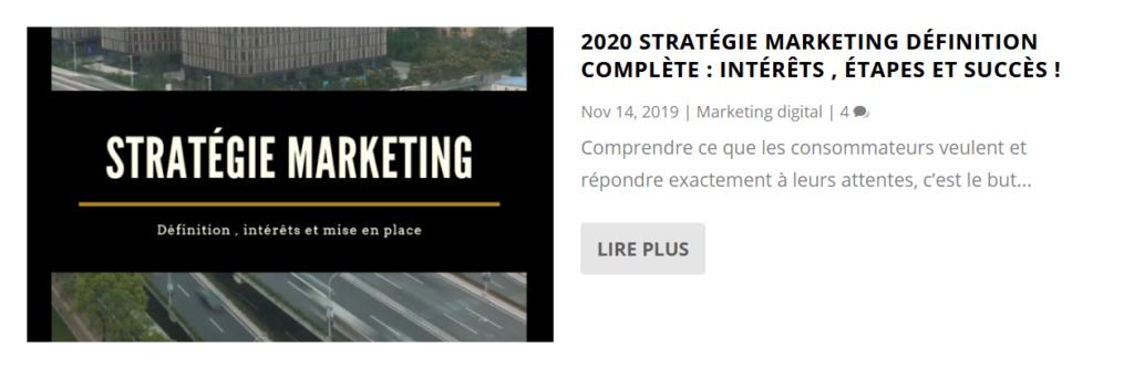 stratégie marketing définition