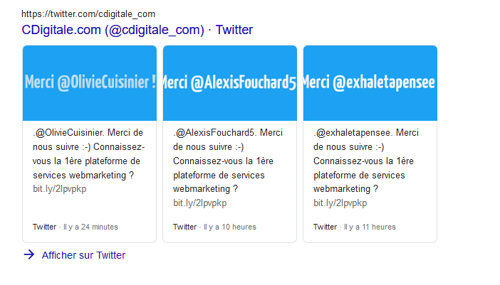 tweetboxes les boites à tweet sur Google