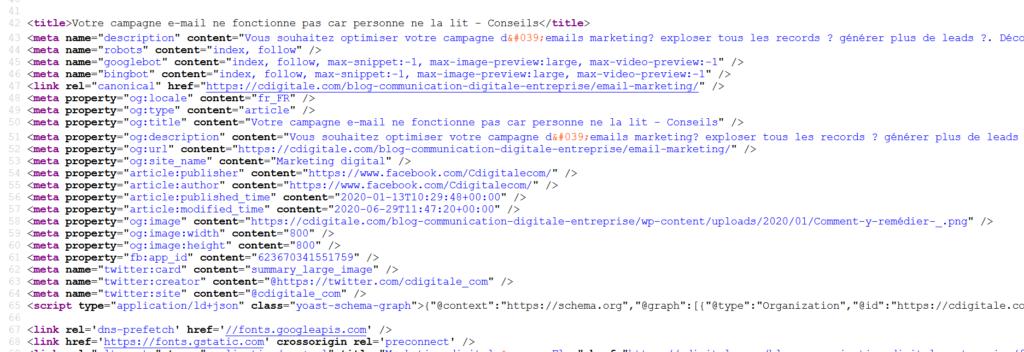 code source pour trouver des mots clés de concurrents