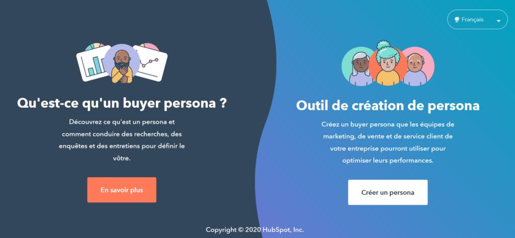 créer un buyer persona facilement et gratuitement avec l'outil HubSpot