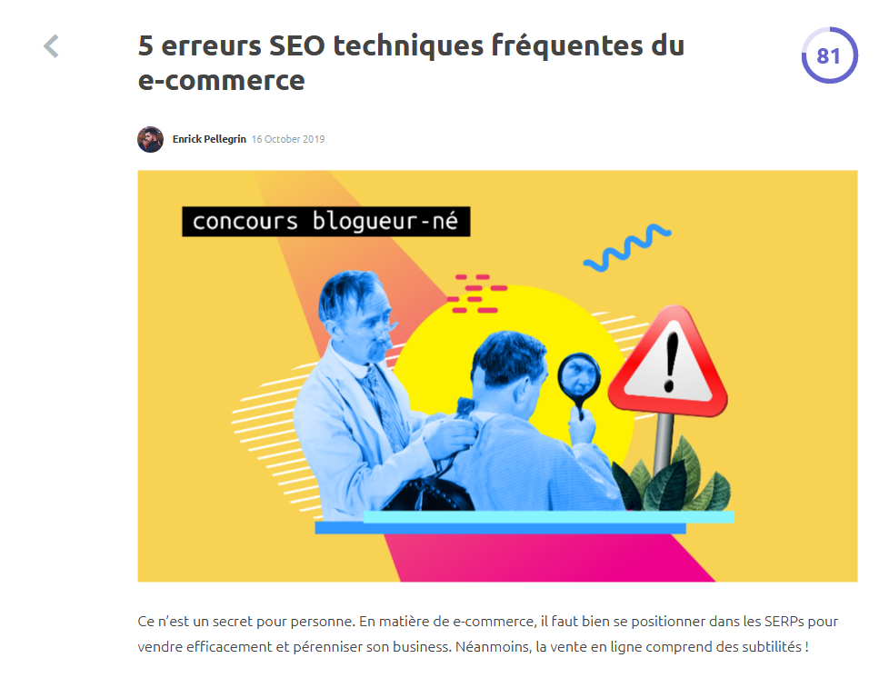 exemple article seo