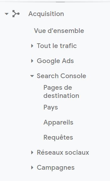 google analytics et requetes de mots clés