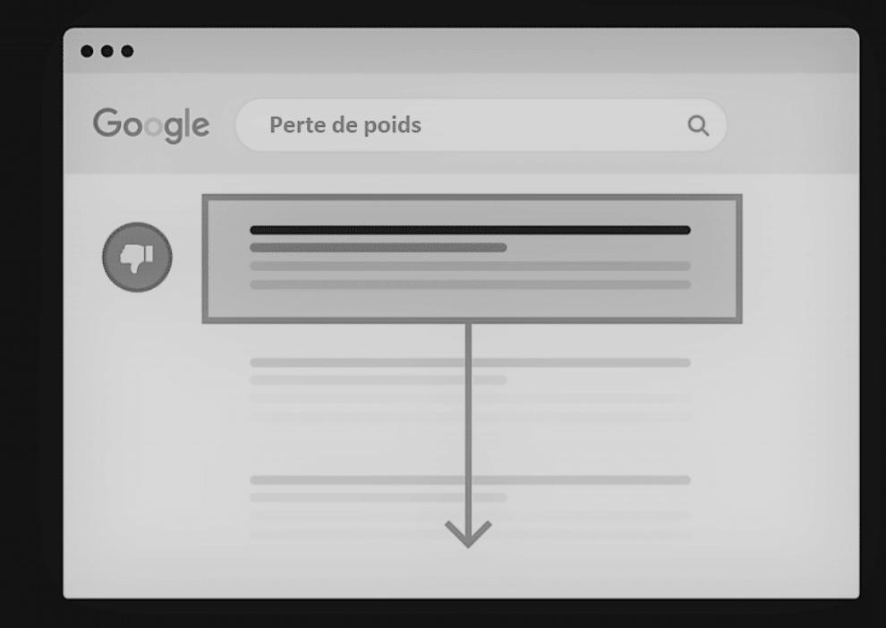 ne pas optimiser son contenu on-page chute classement google