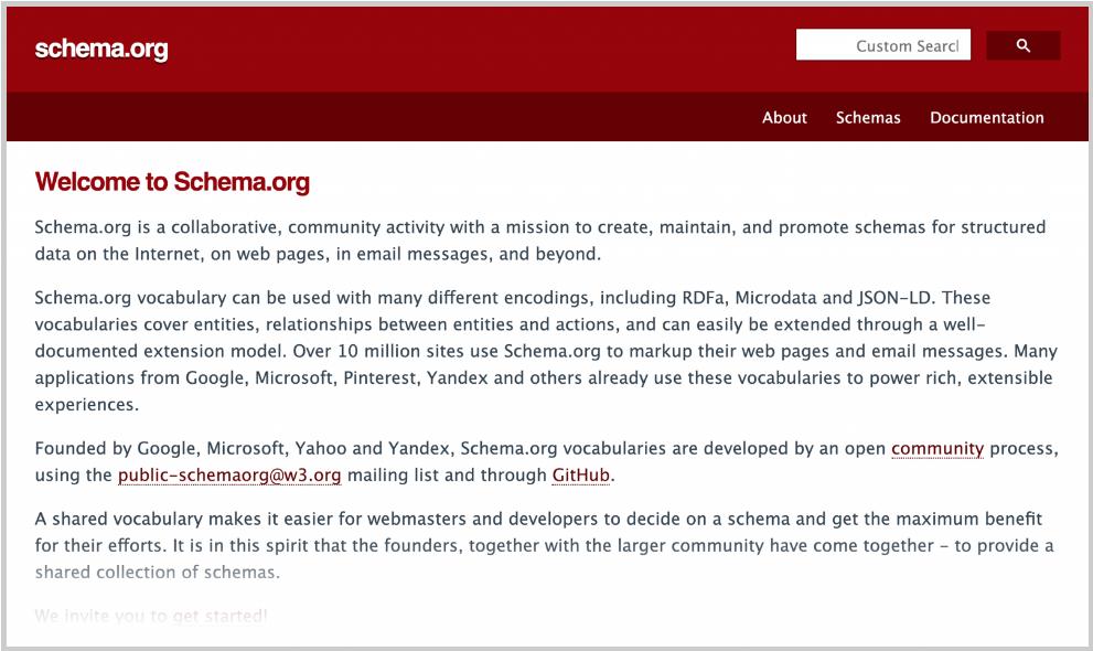 schema org