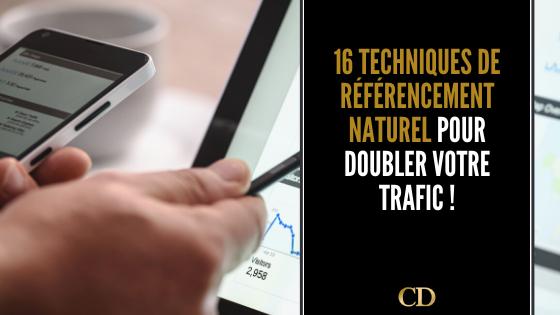 16 techniques de référencement naturel pour doubler votre trafic !