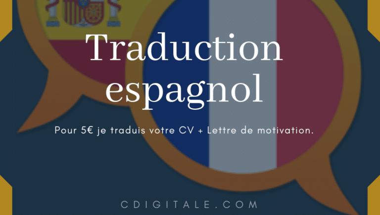 Je Traduis Votre Cv Lettre De Motivation Espagnol Francais